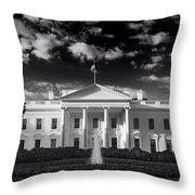 White House Sunrise B W Throw Pillow