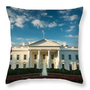White House Sunrise Throw Pillow