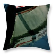 White Hull On The Water Throw Pillow