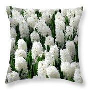 White Hyacinths Throw Pillow