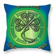 White Ireland To America Throw Pillow