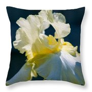 White Iris With Yellow Throw Pillow
