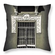 White Iron Throw Pillow by Perry Webster