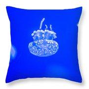 White Jelly Fish Throw Pillow
