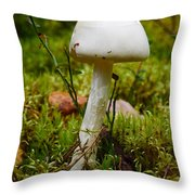 White Killer Throw Pillow
