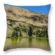 White Knob Mountain Lake Throw Pillow