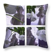 White Lace Picture Window Throw Pillow