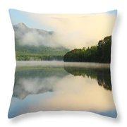 Morning On Lake Chocorua Throw Pillow