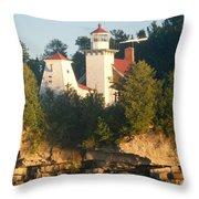 White Lighthouse Throw Pillow