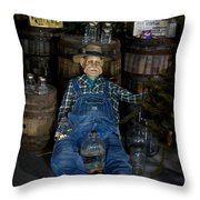White Lightnin Road And Jeb Throw Pillow by DigiArt Diaries by Vicky B Fuller