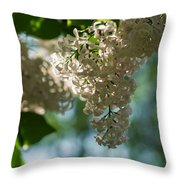 White Lilacs In The Shade - Featured 2 Throw Pillow