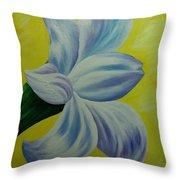 White Lilly Throw Pillow