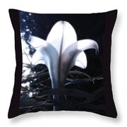 White Lily By Jan Marvin Throw Pillow