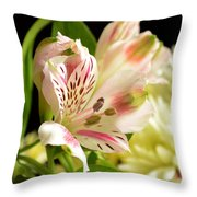 White Lily Throw Pillow