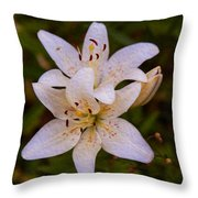 White Lily Starburst Throw Pillow