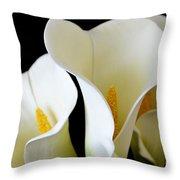 White Lily Trio Throw Pillow
