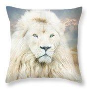 White Lion - Spirit Of Goodness Throw Pillow