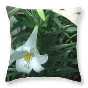 White Lovely Throw Pillow