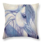 White Mare Throw Pillow