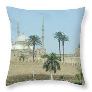 White Mosque Throw Pillow