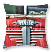 White Motor Company Highway Post Office U. S. Mail No 1 Throw Pillow