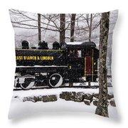 White Mountains Railroad And Train Throw Pillow