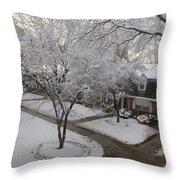 White Neighbourhood Throw Pillow