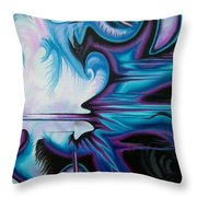 White Noise Throw Pillow