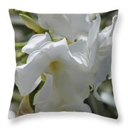 White Oleander Throw Pillow