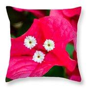 White On Red Trinity Throw Pillow