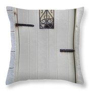 White On White Door Throw Pillow