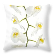 White Orchid-4783 Throw Pillow