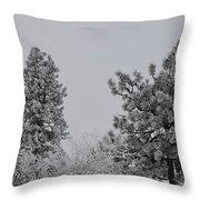 White Out Throw Pillow