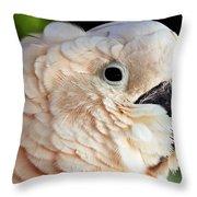 White Parrot Throw Pillow