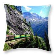 White Pass And Yukon Route Railway In Canada Throw Pillow