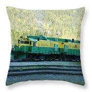 White Pass Railroad 2 Throw Pillow