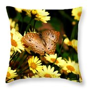 White Peacock Butterfly I I Throw Pillow