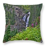 White Pearl Waterfall Vert Throw Pillow