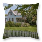 White Pickett Fence Throw Pillow