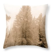 White Pines Throw Pillow