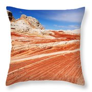 White Pocket 2 Throw Pillow