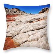 White Pocket 3 Throw Pillow