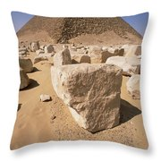 White Pyramid Of King Snefru Throw Pillow