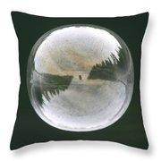 White Reflections Throw Pillow