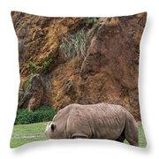White Rhino 13 Throw Pillow