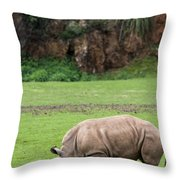 White Rhino 14 Throw Pillow