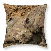 White Rhino 2 Throw Pillow