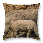 White Rhino 4 Throw Pillow