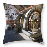 White River Falls State Park Powerhouse Throw Pillow