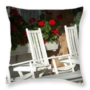 White Rockers Flower 21160 Throw Pillow